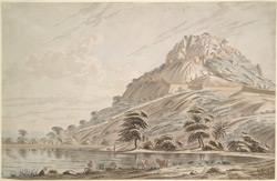 View of Anchittidrug (Mysore).  Between 1790 and 1792